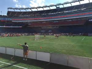gillette stadium section 105 row 1 seat 5 boston cannons