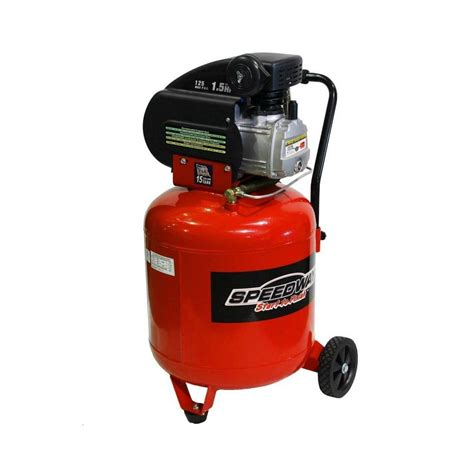 speedway 15 gal 1 5 hp portable electric vertical air
