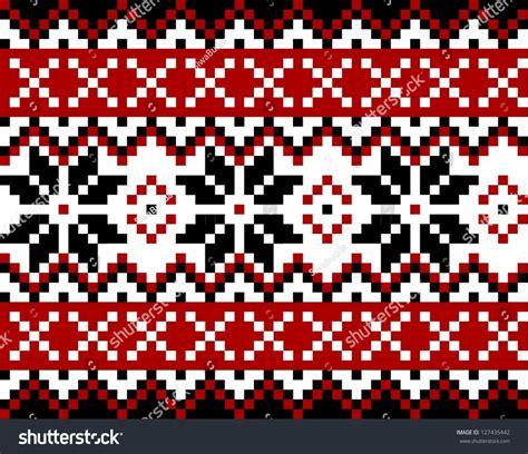norwegian pattern vector nordic pattern snowflakes mosaic scandinavian norwegian