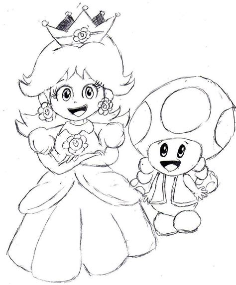 mario coloring pages daisy mario luigi peach daisy bowser toad picture coloring page