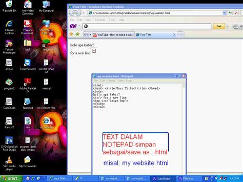 membuat web sendiri dengan html pengenalan komputer secara gang contoh membuat web