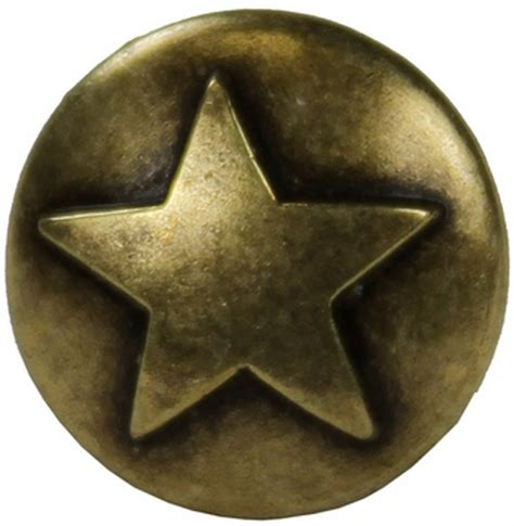 Western Decorament 25 1 2 Antique Brass Star Upholstery