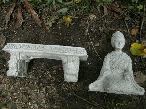 small concrete garden benches beautiful small cement geisha girl bench pair garden art