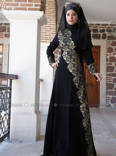 07872 Gamis Lirin Biru Baju Muslim Maxi Dress guipure detailed evening dress black zehrace heejab style dress black