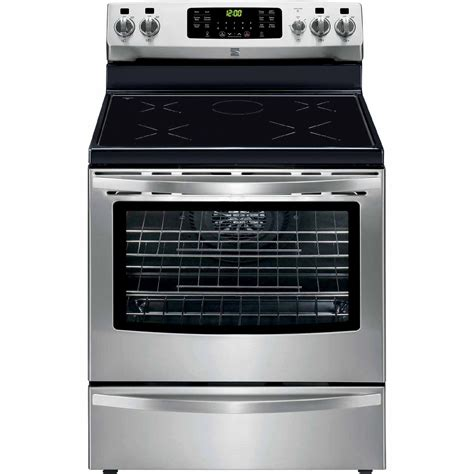 induction or electric range kenmore 95103 5 4 cu ft freestanding induction range w true convection stainless steel