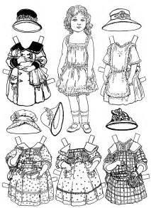free printable paper doll coloring pages for