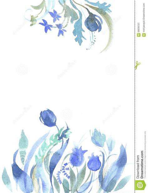 watercolor blue sketch stock illustration image 58239727
