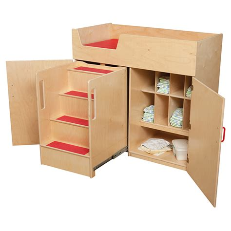 changing table with stairs wood designs wd21075 changing table with stairs schoolsin