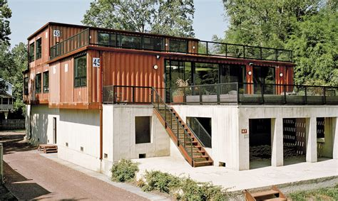 modern colorful and creative shipping container home in my modern met the big city that celebrates creative ideas