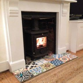 Fireplace Tiles Uk by Encaustic Tile Patchwork And Fireplaces On