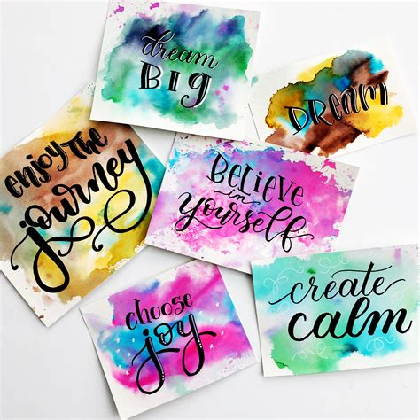 watercolour quotes tutorial easy watercolour background techniques for hand lettering