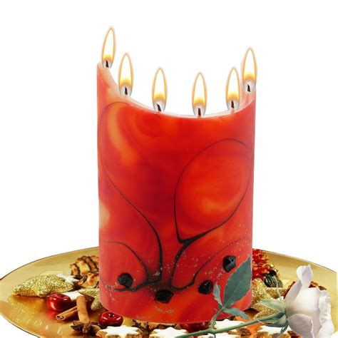 Handmade Scented Candles - decorative handmade scented candle curved gift 7 wicks ebay