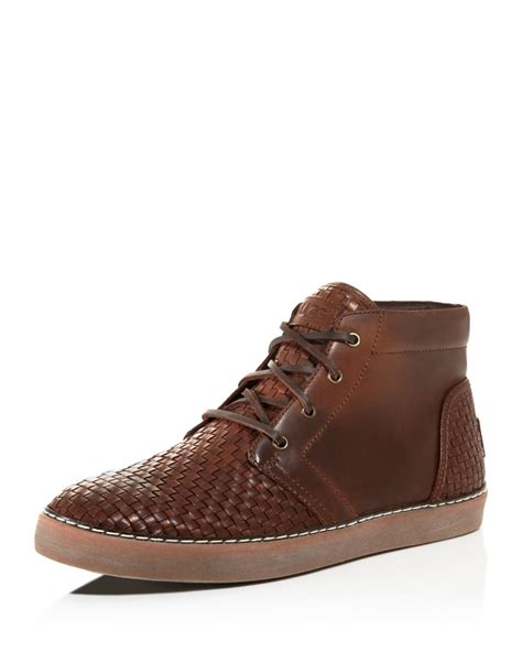 ugg sneaker boots ugg australia alin woven chukka sneaker boots in brown for