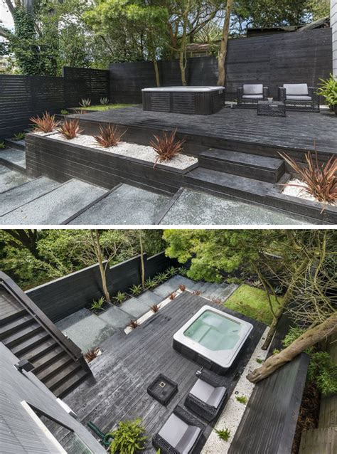 two level backyard 13 multi level backyards to get you inspired for a summer