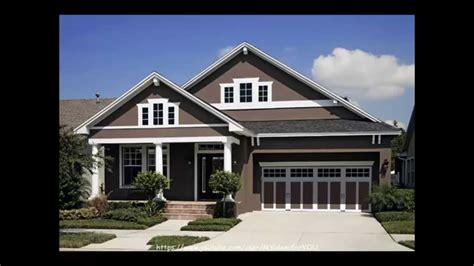 exterior house color schemes colors craftsman with brick