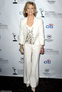 What happened jane fonda wore a cast on her arm as she attended the
