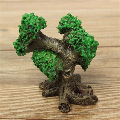 Resin Garden Decor Mini Resin Trees Micro Landscape Decorations Garden Diy