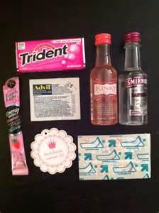 Bachelorette Favor Bags by Just Lovely Bachelorette Survival Kits