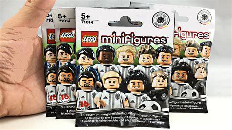 Lego 71014 Minifigure Germany National Team Dfb Series Limited Edition lego minifigures football series 4 pack opening germany national team