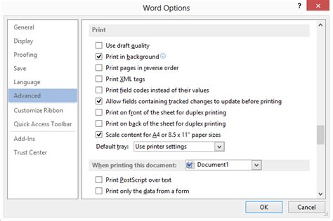 printable area in word 2007 images won t print microsoft word