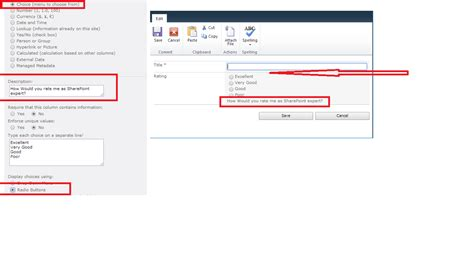 Description Of Sharepoint by Sharepoint Enterprise Display Description Of Choice Column Type On Top Sharepoint Stack Exchange