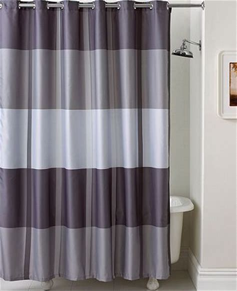 purple and gray shower curtain martha stewart collection encore stripe shower curtain