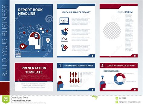 layout of a marketing report content marketing report book cover and presentation