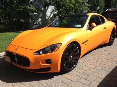 gran turismo maserati matte buy used maserati gran turismo super exotic matte orange