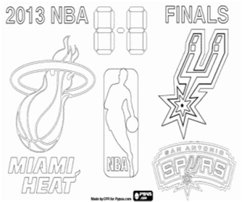 nba finals coloring pages printable spurs logo cake ideas and designs