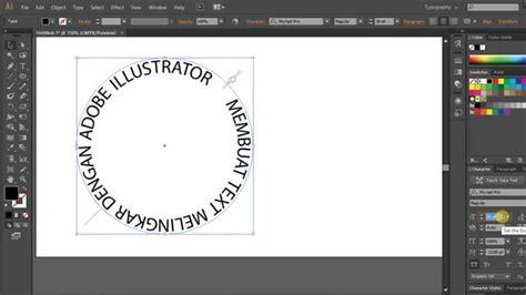 cara membuat outline di illustrator belajar adobe illustrator membuat teks melingkar youtube