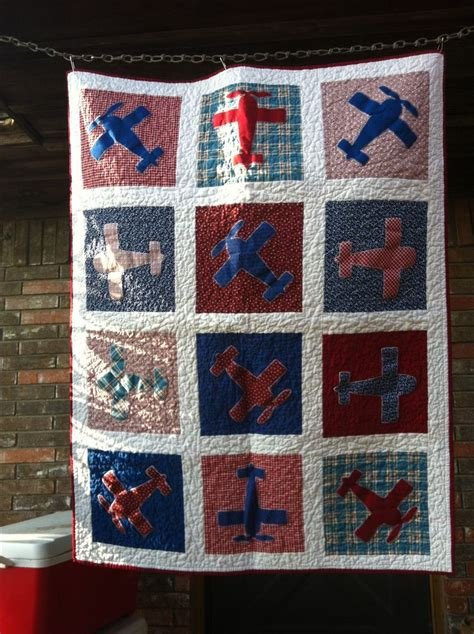 quilt pattern airplane vintage airplane quilt items i hand made pinterest