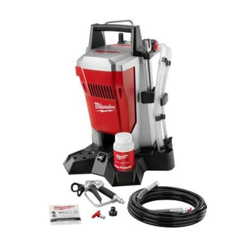 home depot paint sprayer rental cost canada milwaukee airless paint sprayer m4910 10 the home depot