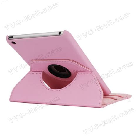 Apple Mini 360 Derajat Rotasi Leather Cover Pink 360 degree rotary leather cover for mini pink