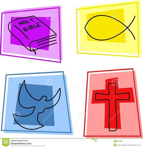 imagenes simbolos biblicos iconos cristianos foto de archivo imagen 862780