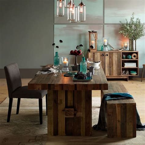 emmerson reclaimed wood dining table west elm motorcycle