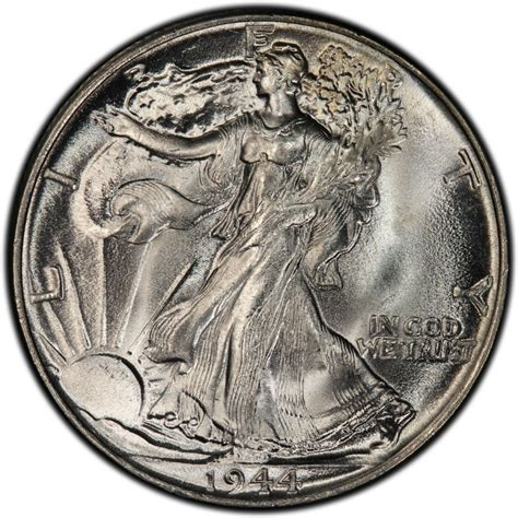 1944 walking liberty half dollar values and prices past sales coinvalues com