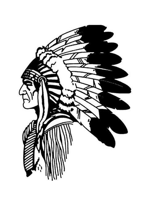 indian chief coloring page free coloring page coloring simple native american profile
