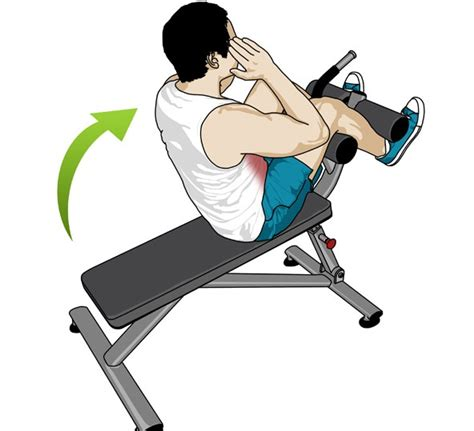 incline bench crunch workoutpedia abs
