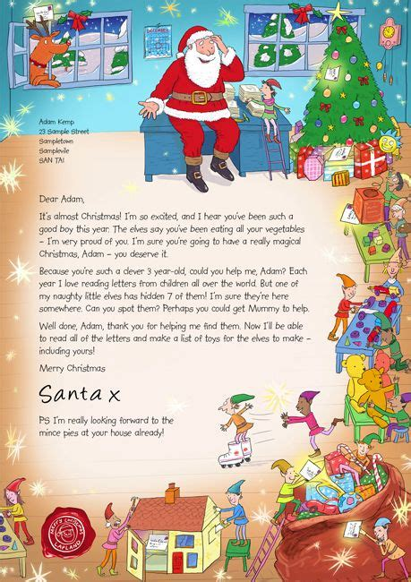 letter from santa on pinterest santa letter free letters from santa