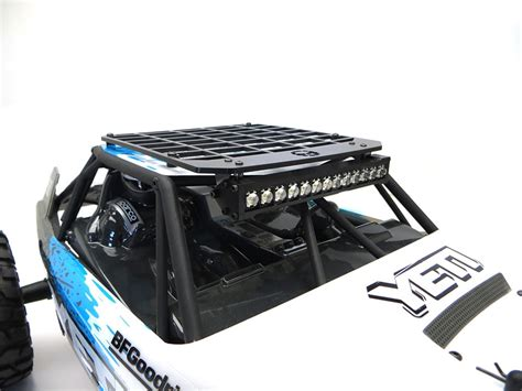 Hobby Scale Light Bar 23743 gear rc 1 10 scale yeti slim line roof rack with light bar mount