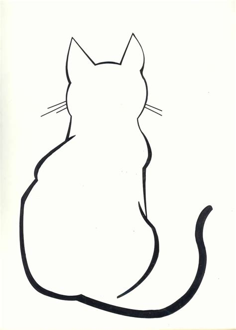 cat outline tattoo i m strange you re a prosopagnosia cat