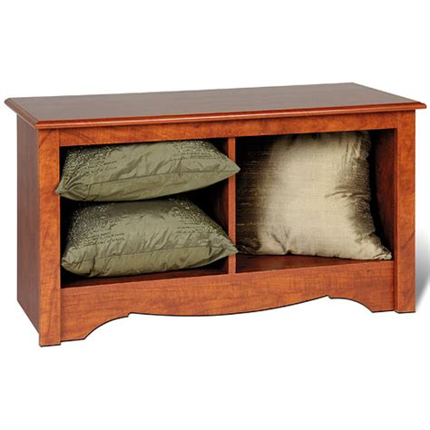 cherry storage bench monterey twin cubby storage bench cherry in storage benches