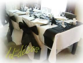 d 233 coration mariage anniversaire deco table noir et blanc