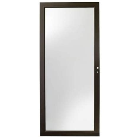 Andersen 4000 Door Installation by Andersen 32 In X 80 In 4000 Series Bronze View
