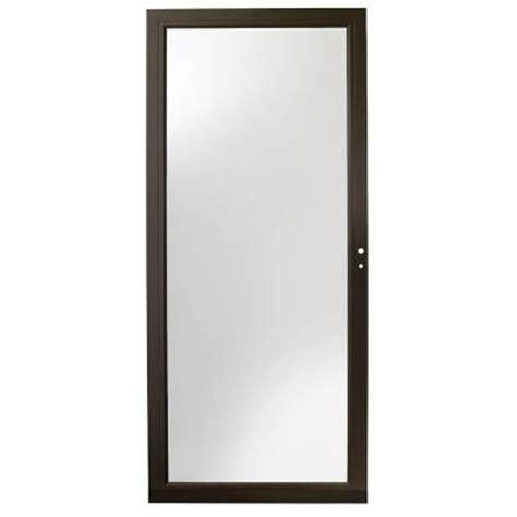 Andersen 4000 Door andersen 32 in x 80 in 4000 series bronze view laminated safety glass door