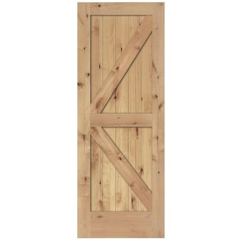 home depot interior slab doors steves sons 36 in x 80 in 2 panel solid unfinished knotty alder interior barn door slab