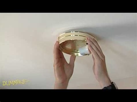 How To Change Light Fixture How To Replace Ceiling Light Fixtures For Dummies