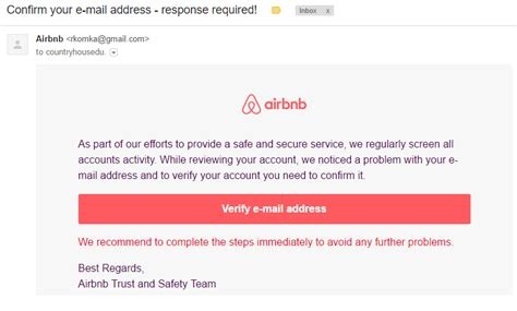 airbnb contact email fake airbnb in my email asking to verify my email