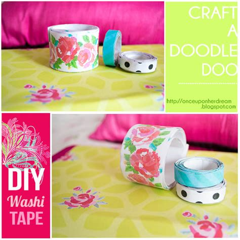 diy washi tape craft a doodle doo inspiration nation diy washi tape