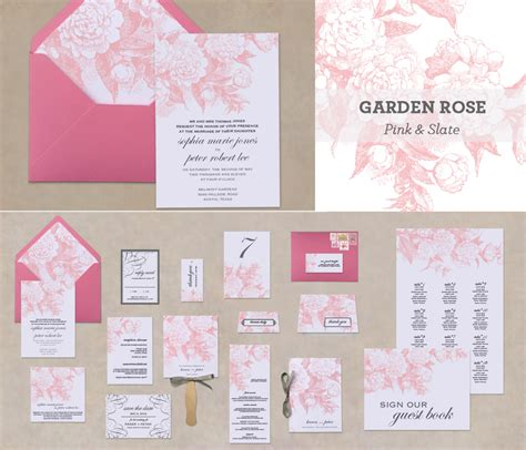 Printable Elegant Cottage Rose Wedding Stationery